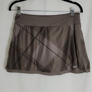Nike two-tone Brown Tennis Skirt,  Plaid